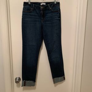 Loft Curvy Straight Cropped jeans, size 8/29